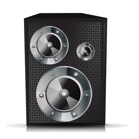 single musical speaker isolated on white Stock Vector - 10888450