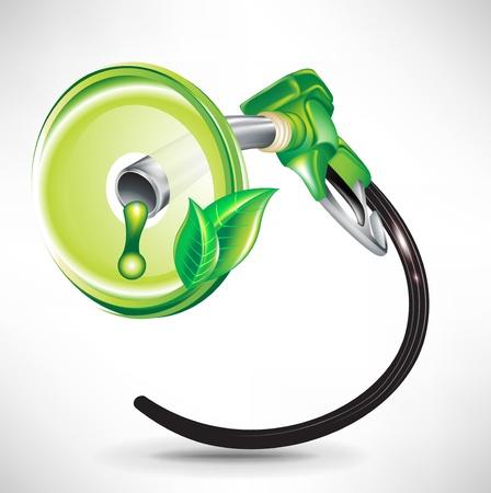 �conomie verte: de pompage de carburant de l'�nergie verte dans le r�servoir; concept environnemental