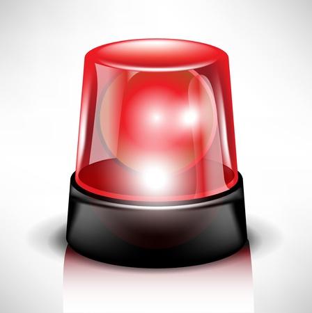 bombero de rojo: luz de flash roja  sirena real mientras el parpadeo
