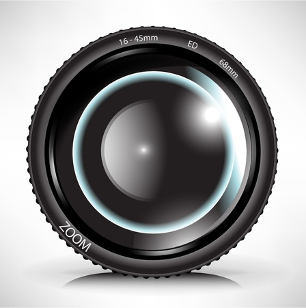 single camera photo lens illustration Vector