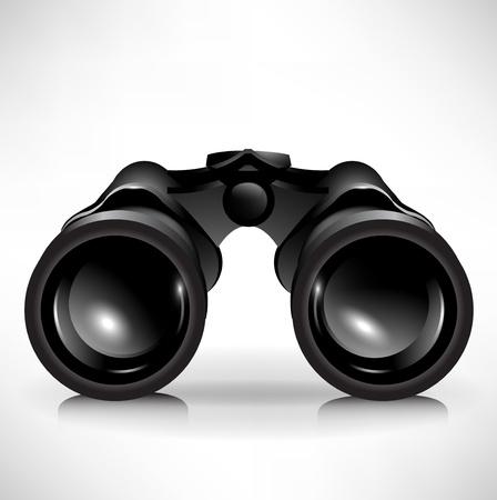 fernrohr: Single shinny Fernglas-Symbol Abbildung