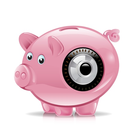 piggy bank with combination lock Stock Vector - 11137377