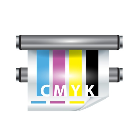 color printer icon on white background Stock Vector - 11655479
