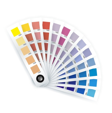 latas: elemento de impresi�n, Selector de color sobre fondo blanco