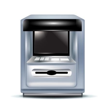 Einzigen Geldautomaten auf weiß Standard-Bild - 11655481
