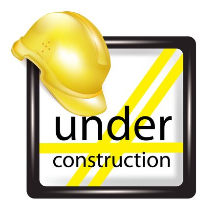 construct: under construction sign on white