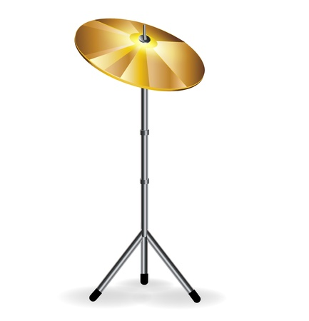 cymbal: drums concept with cymbal isolated on white