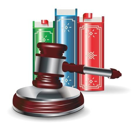 judge gavel and book isolated on white Stock Vector - 13673486