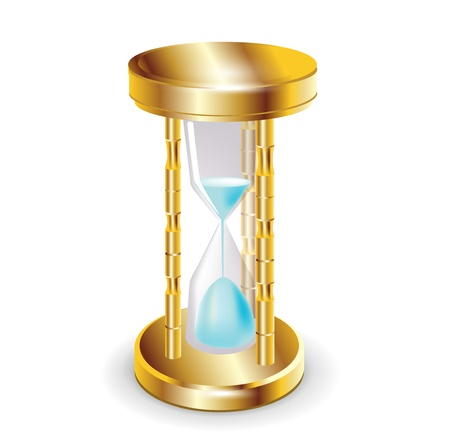 golden hourglass isolated on white Stock Vector - 13673448