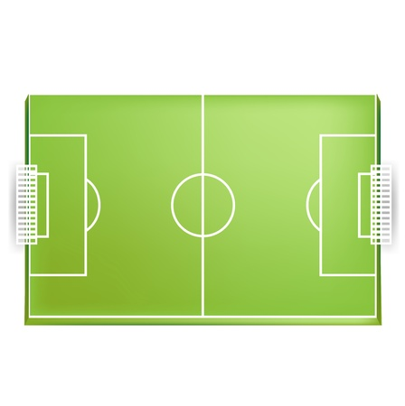 Soccer field or football field from above view isolated Stock Vector - 13673420