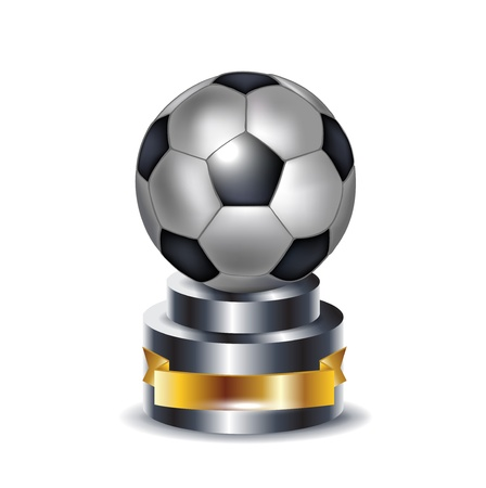 football trophy: football trophy isolated on white Illustration