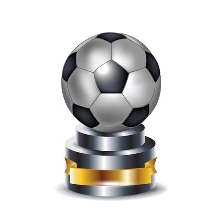 Fußball-Trophäe isoliert auf weiß Standard-Bild - 13673443
