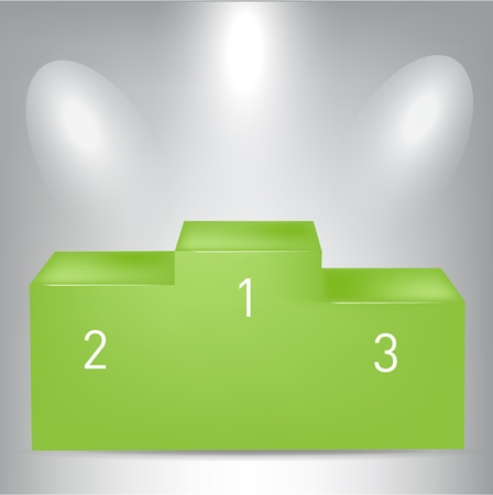 green pedestal with spot lights Vector