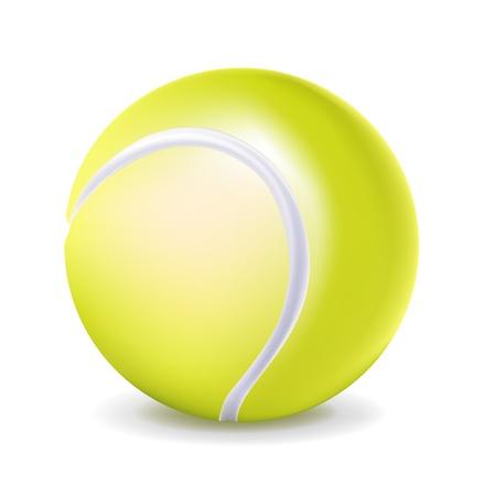 tenis: single tennis ball isolated on white