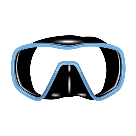 single scuba diving mask isolated Stock Vector - 13709533