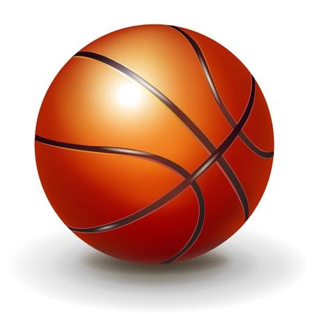 basket ball: single basketball isolated on white