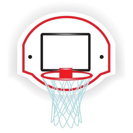 nba: single basketball ring isolated on white