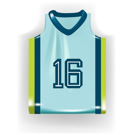 single basketball shirt isolated on white Vector