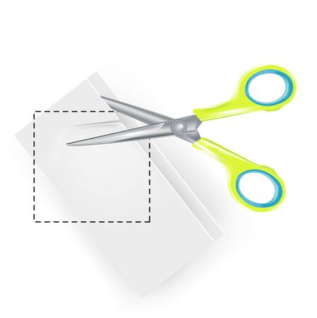 copy paste: scissors copy paste symbol isolated Illustration