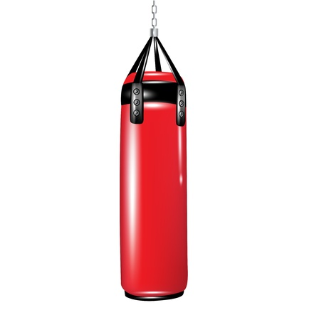 punching bag for boxing isolated on white Stock Vector - 14554917