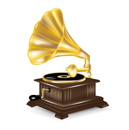 phonograph: gramophone isolted on white background