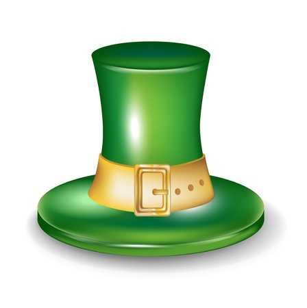 st patrick hat isolated on white Stock Vector - 14969136