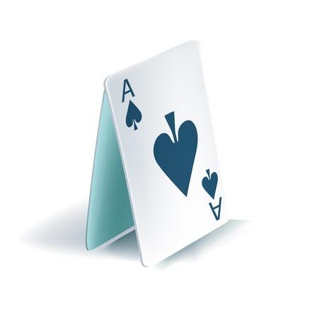 ungleichgewicht: Spielkarten Pyramide isoliert auf wei�