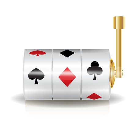 slot machine isolated on white background Stock Vector - 20191775