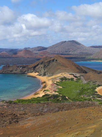 View from Bartolome Island in the Galapagos Islands