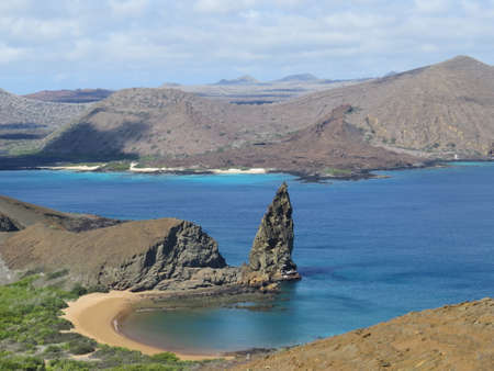 bartolome: View from Bartolome Island in the Galapagos Islands