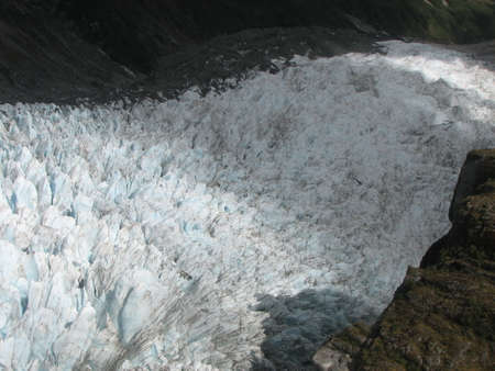 geological feature: Fox Glacier in the south island of New Zealand