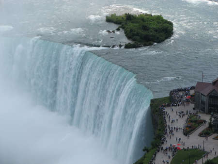 View of Niagra falls in Niagra, Canada
