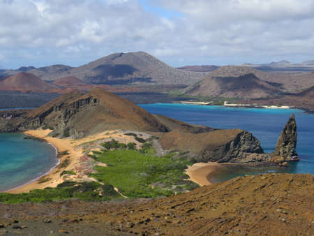 View from Bartolome Island in the Galapagos Banco de Imagens