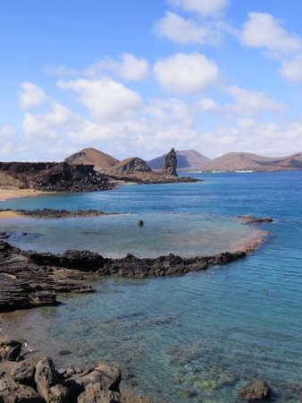 bartolome: View from Bartolome Island in the Galapagos Stock Photo