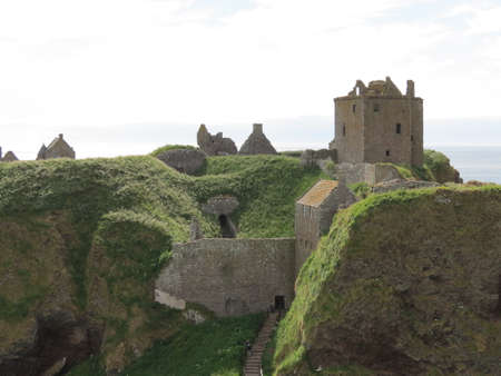 View of Dunnottar Castle, near Stonehaven, Scotland