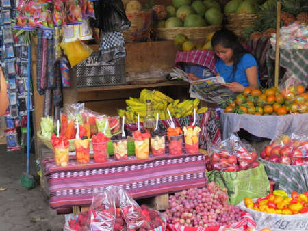 antigua: Market stall in Antigua, Guatemala