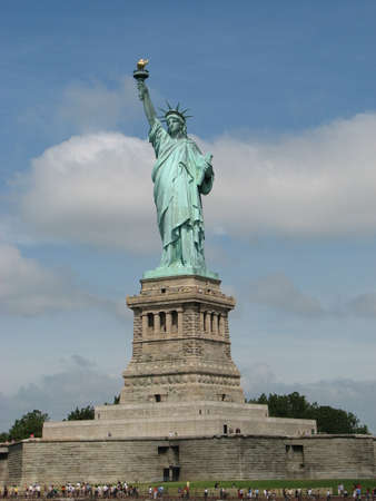 Statue of Liberty. Situated on Liberty Island in the harbour of New York City. photo