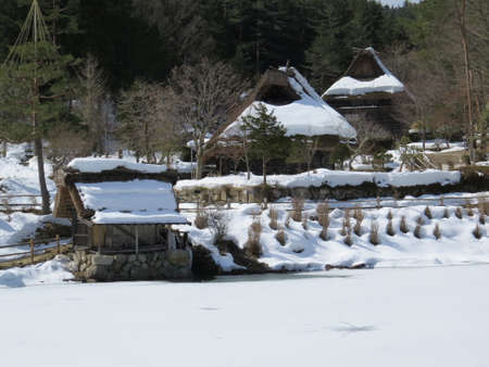 Hida Folk Village in the Japanese mountains near Takayama Banco de Imagens