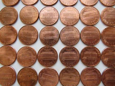 Reverse (Tails) of American one cent coins