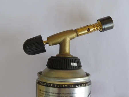 blowtorch: Close up of a blowtorch used in plumbing work