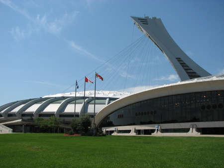 Montreal Olympisch stadion gebruikt in de 1976 zomerspelen. Stockfoto - 55403135