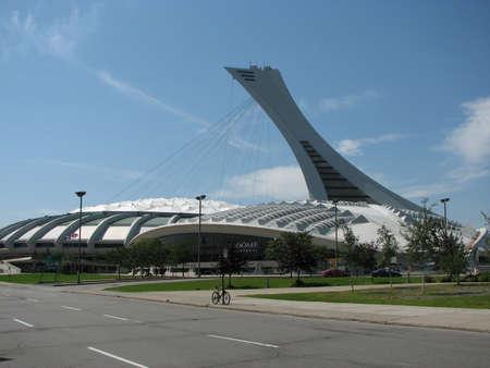 Montreal Olympisch stadion gebruikt in de 1976 zomerspelen. Stockfoto - 55402769