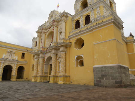 merced: La Merced church in Antigua, Guatemala. Stock Photo