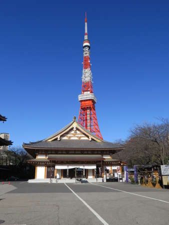 steelwork: The Tokyo Tower is the second highest structure in Tokyo (another, taller tower has now been built) and is a well known landmark. On a clear day, good views of mount Fuji can be seen from the observation deck.
