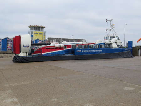 portsmouth: Hovercraft which runs between Portsmouth and the Isle of Wight in the UK.