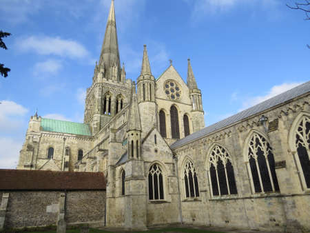 west sussex: Chichester cathedral in West Sussex, UK. Stock Photo