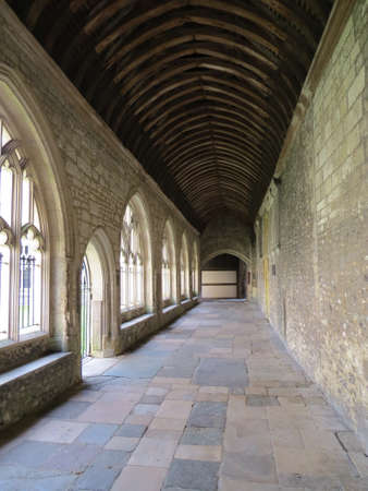 west sussex: Cloisters of Chichester cathedral in West Sussex, UK. Stock Photo
