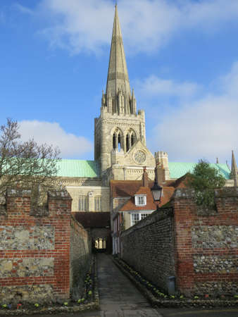 Chichester cathedral in West Sussex, UK. Banco de Imagens
