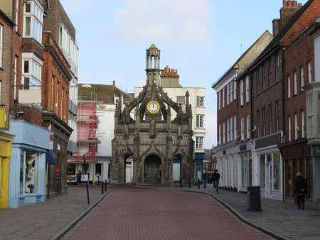 focal point: Market Cross in the city of Chichester in West Sussex, UK.