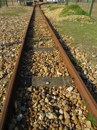 narrow gauge: Section of a narrow gauge railway Line Stock Photo